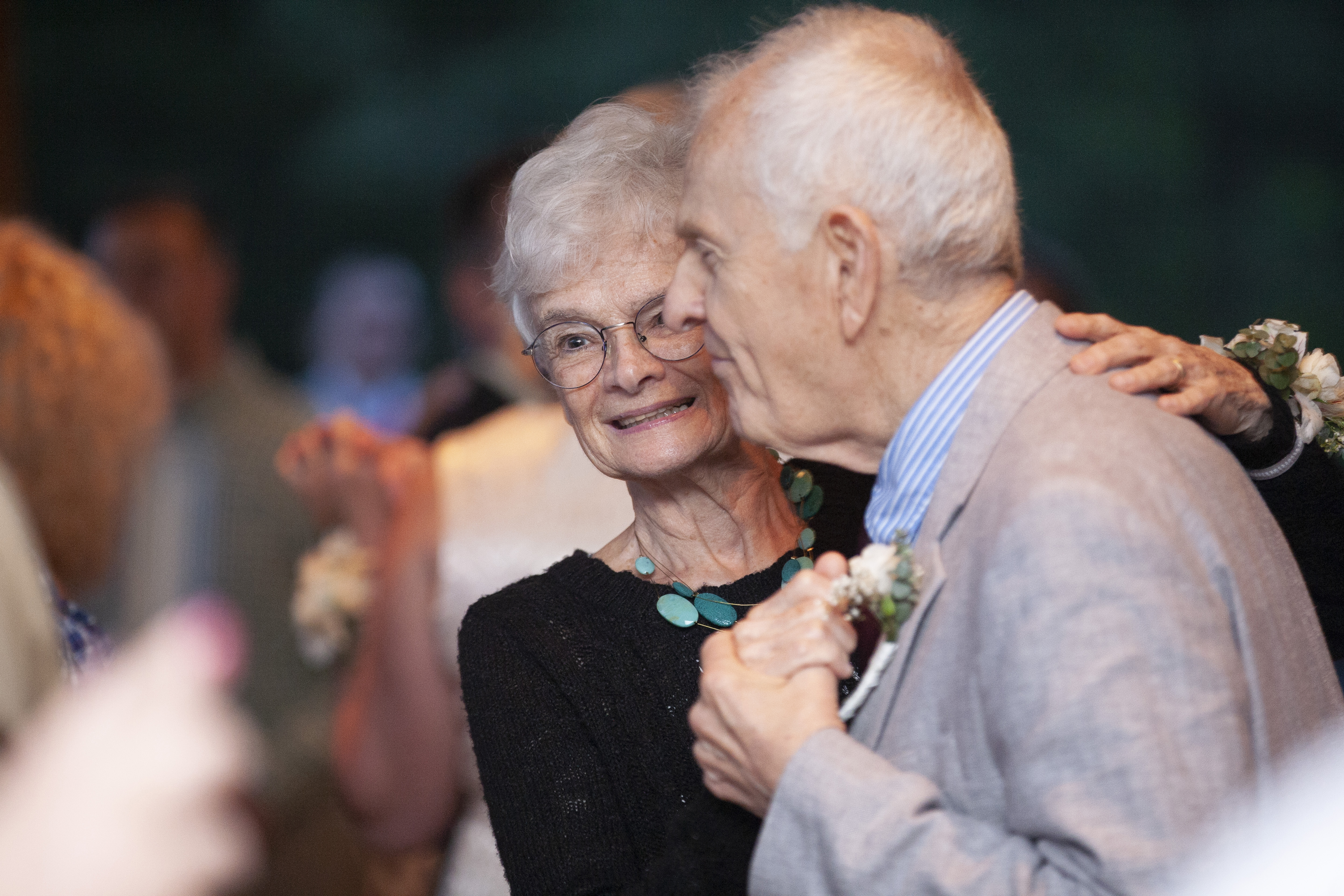 older married couple dancing
