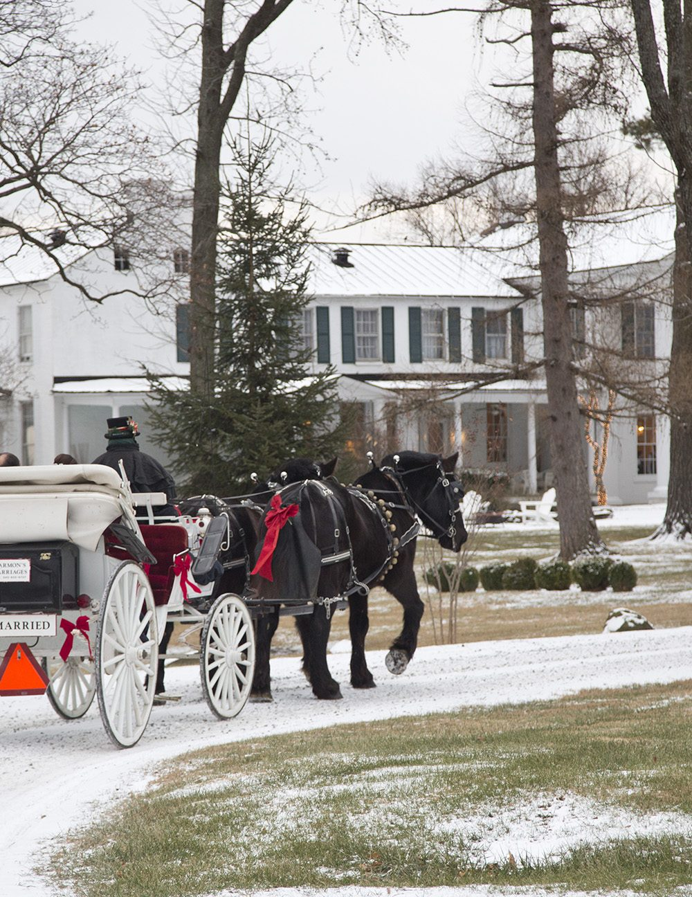 Winter Wedding at Whitehall Estate in Loudoun County:Julie & John