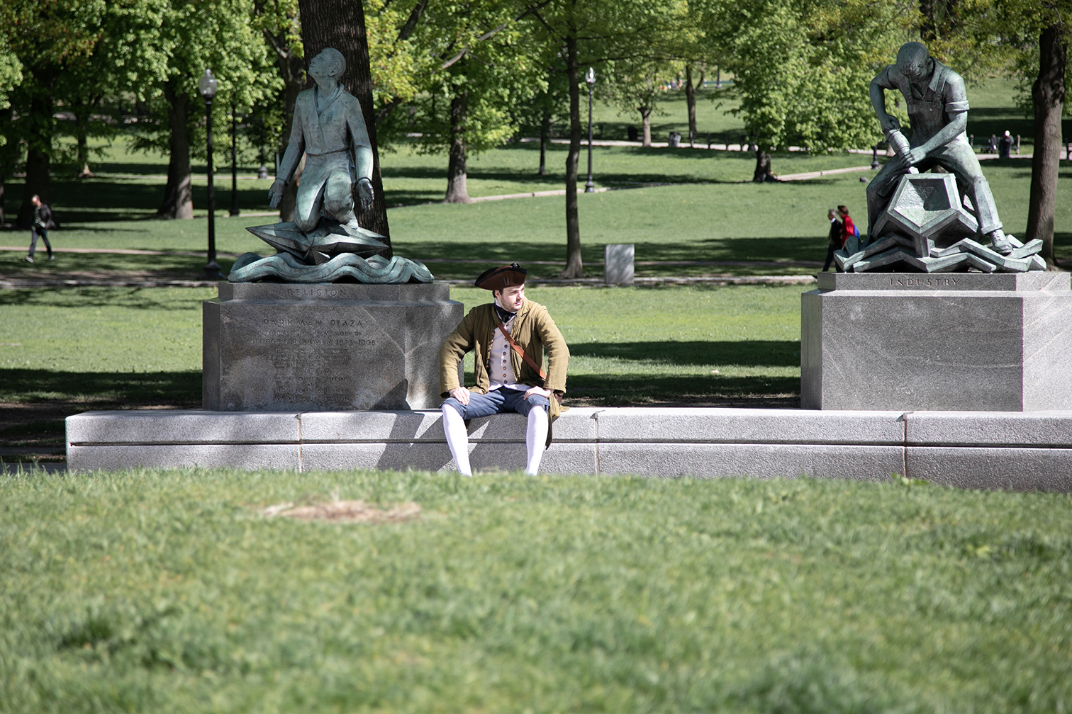 colonial man in Boston Common