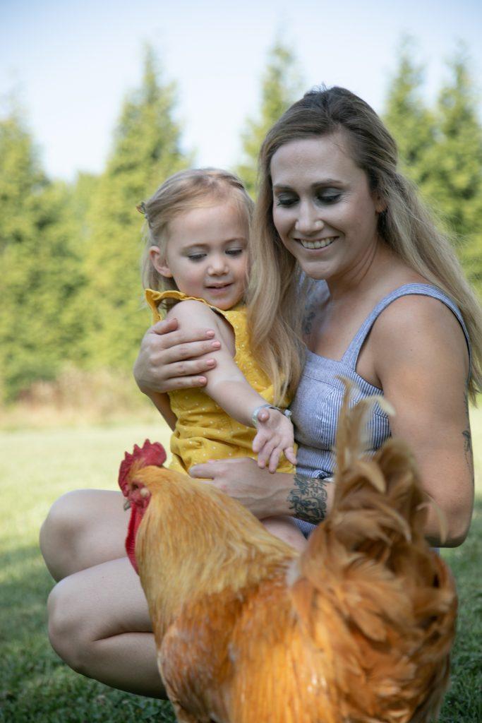 family photos at Ballenger farm
