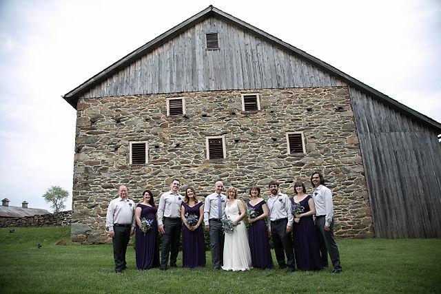 wedding party at Sylvanside farm