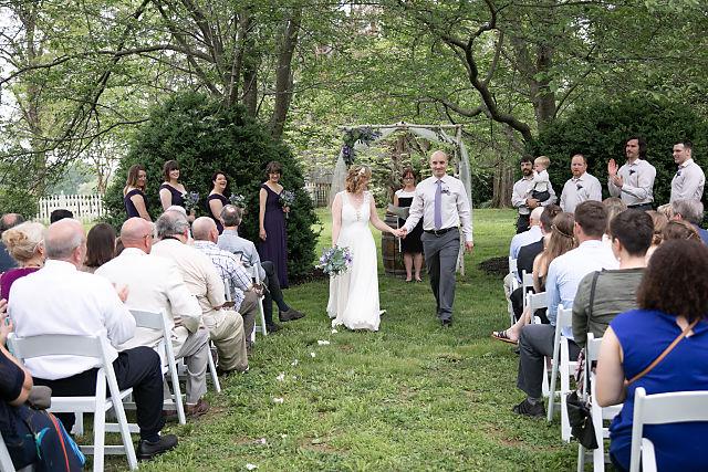 outdoor ceremony at sylvanside farm