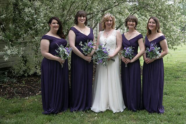 bridesmaids at sylvanside farm