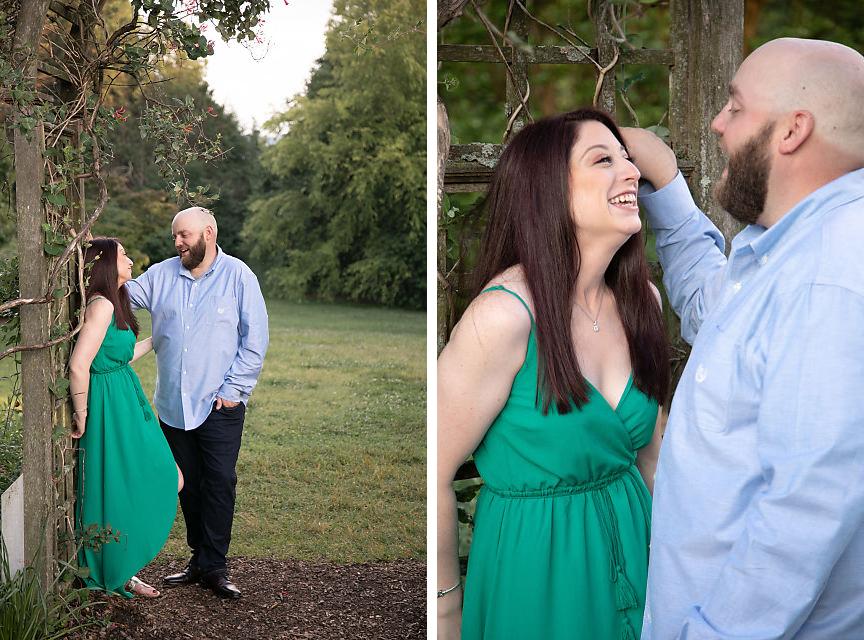 Engaged couple at brandy farm in Boyce VA
