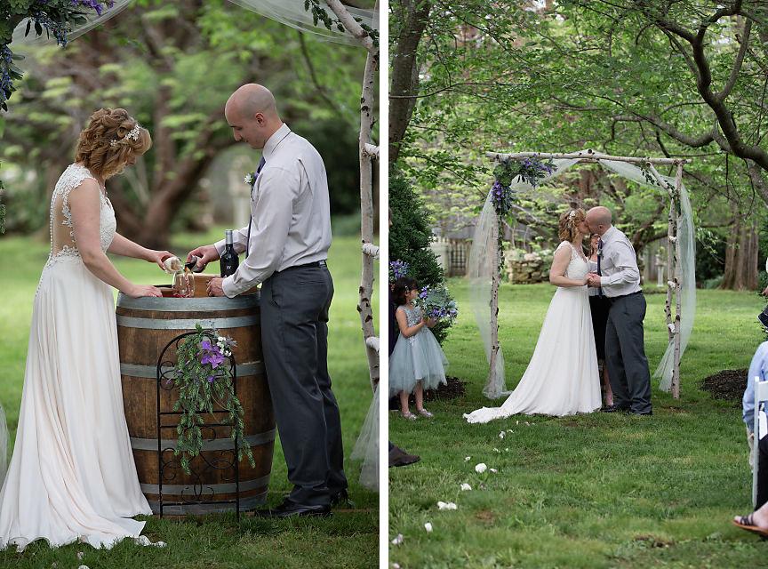 outdoor wedding ceremony at Sylvanside Farm
