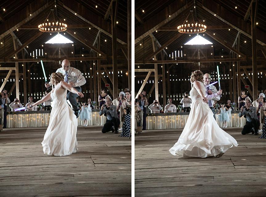 wedding reception at Sylvanside Farm