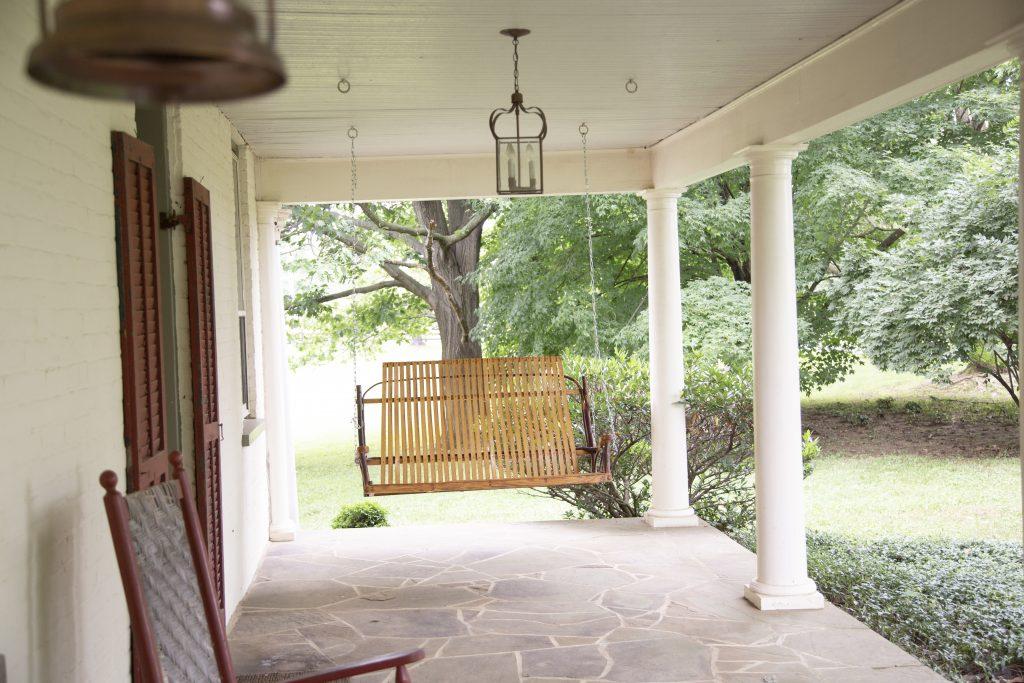 Sylvanside Farm front porch swing