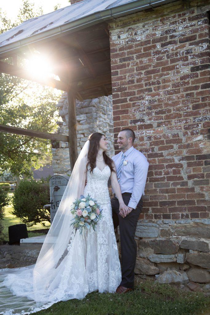 Loudoun County micro wedding couple