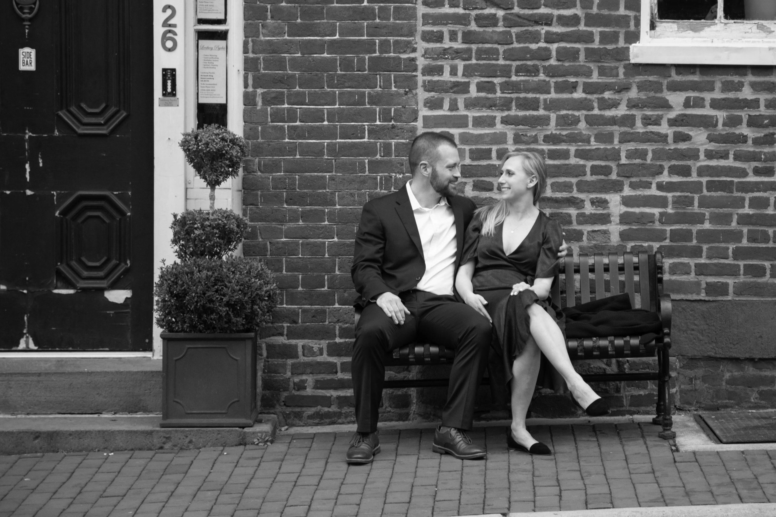 Leesburg Virginia Engagement Photography: Maggie & Nick in Downtown Leesburg.