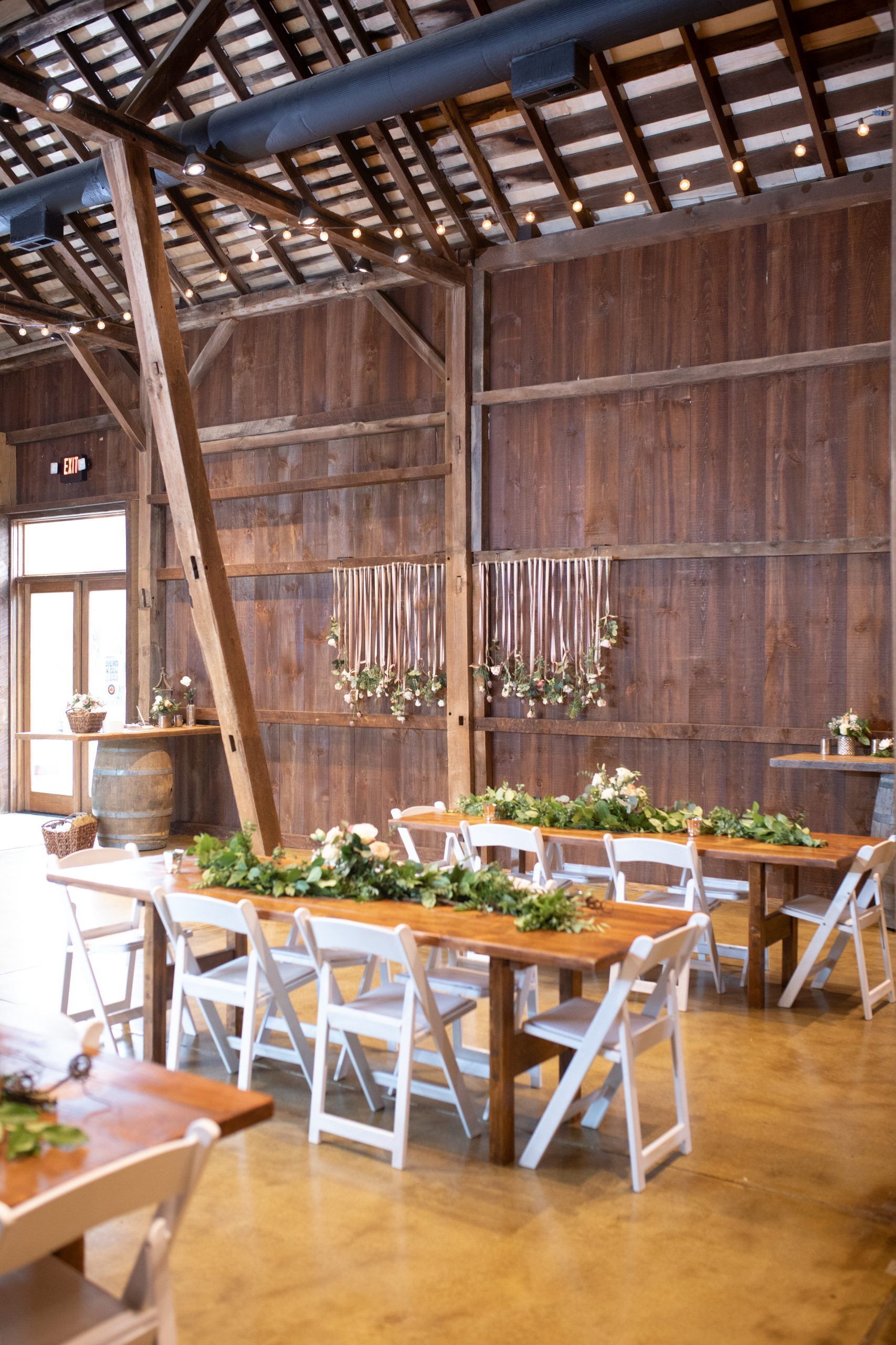 Kalero Vineyard wedding barn decor photographs, Stephanie Leigh Photography & Design