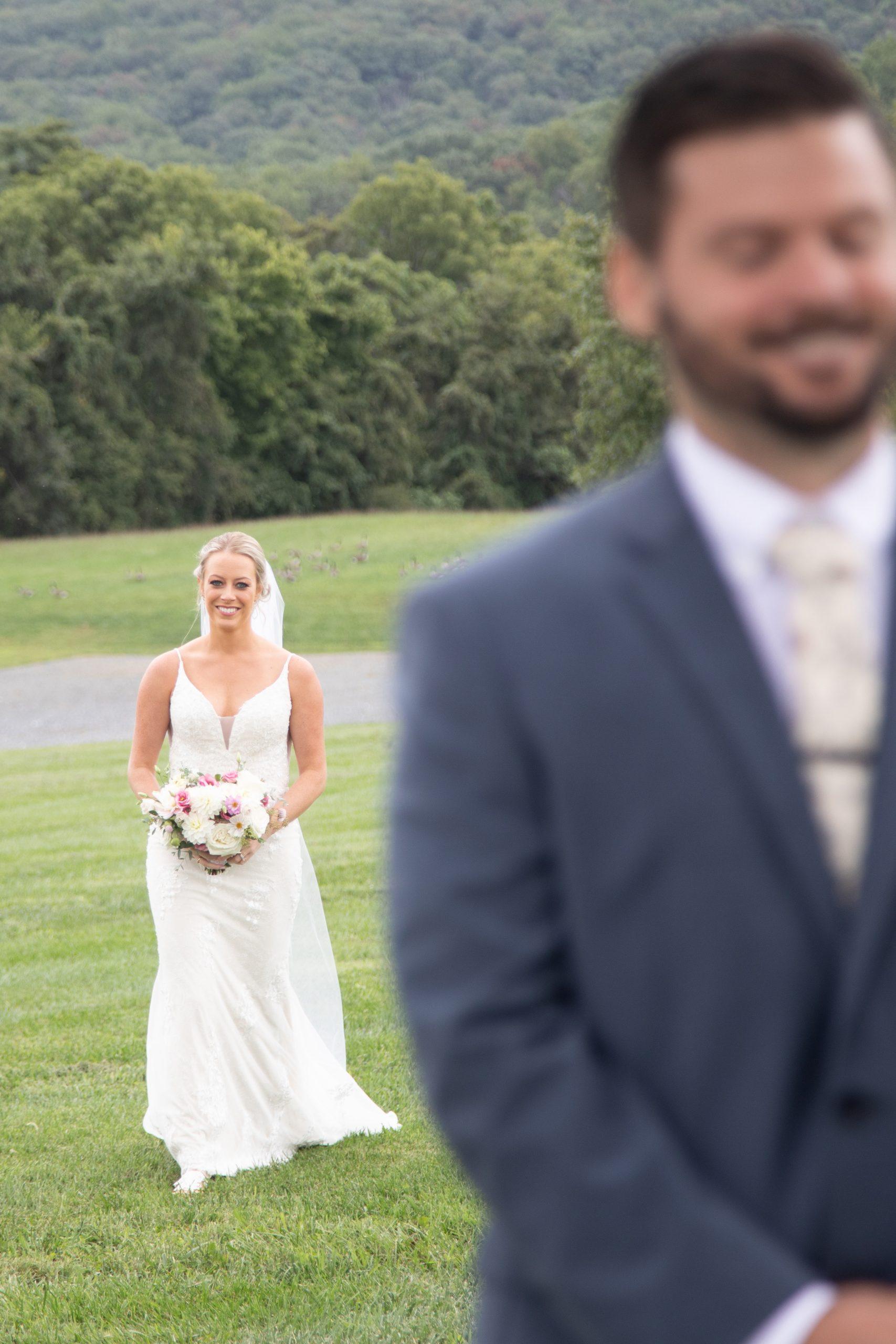 Kalero Vineyard wedding first look photographs, Stephanie Leigh Photography & Design