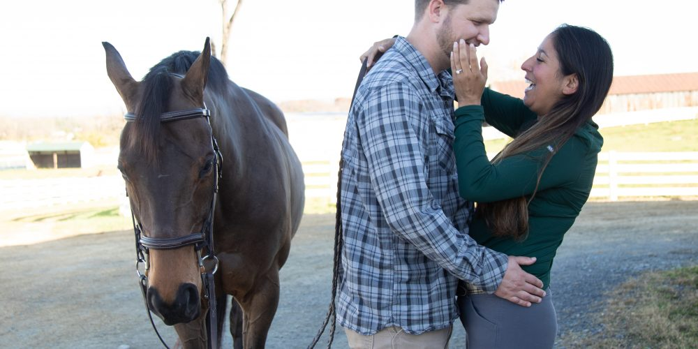Hunt Country Proposal: Jon asks Chrissy at the horse barn.